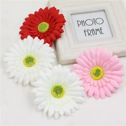 Wholesale Big Beautiful Homes - Wholesale- Diy 10cm Big White Red Pink Artificial Silk Sunflower Handmade Beautiful Daisy Gerbera For Wedding Home Holiday Decorate 5Pcs