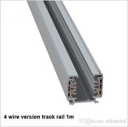 Wholesale Universal Lighting Systems - LED Track rail 1M 3 Phase Circuit 4 Wire Aluminum track Light Rails Lighting Global Tracks System Universal Rails Track Lamp Rail