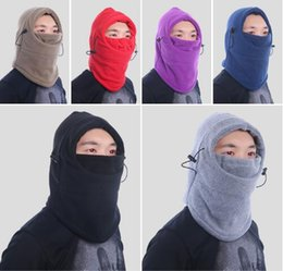 Wholesale Tie Dye Bandana Wholesale - 9 Colors Winter Warm Unisex Helmet Bandana Neck Heater Balaclava Ski Veneer Mask Thickening CS Cycling Masks CCA7607 50pcs
