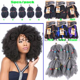 Wholesale Synthetic Bulk Hair For Braiding - 12inch 100g 5pcs lot synthetic hair extensions afro kinky bulk braiding hair synthetic crochet hair kinky curly bulk for women