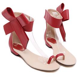 Sandalo fiore coperchio punta online-New Fashion caviglia grande fiore punta nera punta arco donne sandali piatti scarpe estive benda sandali infradito donna più dimensioni