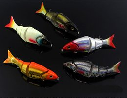 Wholesale Multi Jointed Fishing Lures - Free Shipping Multi Colors 12cm Bionic Bait 5 Sections Jointed Lure Gnarliest Fish Hard Bait For Long Shot