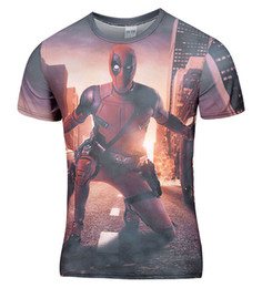 Wholesale Comics Women - Wholesale- New Arrive American Comic Badass Deadpool T-Shirt Tees Men Women Cartoon Characters 3d t shirt Funny t shirts Casual tee shirts