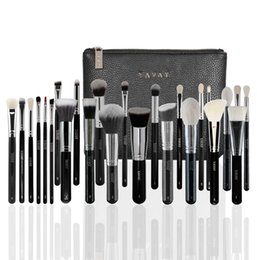 cosmetic bag makeup artist Coupons - Yavay 25pcs Pennelli Makeup Brushes Set Professional Blending Premium Artist Yavay Leather Bag Make Up Cosmetic Brush Tools Kit