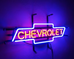 Wholesale Chevrolet Neon Signs - New HIGH LIFE Neon Beer Sign Bar Sign Real Glass Neon Light Beer Sign ME 642- CHEVROLET 9.8x18 001