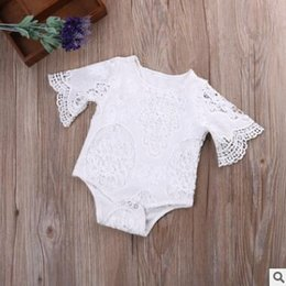 Wholesale Halloween Lace Rompers - Ins Baby Romper Lace Rompers 2017 Summer Ins Jumpsuits Romper Bodycon Jumpsuit Baby Onesies Girl Jumpsuit Toddler Infant Outwear Bodysuit
