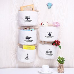 Wholesale Mini Folding Wall - Door Hanging Wall Bags Cotton Vintage Storage Bags Mini Wall Wardrobe Sundries Tidy Bags Home Decor Organizer Hang Pouch Wholesale