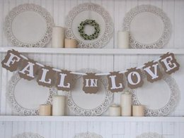 """Wholesale Engagement Props - Wholesale- 3 Meters Romantic Vintage """" FALL IN LOVE"""" Wedding Engagement Banner Photo Booth Props"""