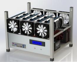 2019 produtos químicos laranja 6 quadro do mineiro do computador de caso da mineração do ar aberto de GPU ETH