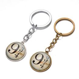 Wholesale Glass Pillar Plates - Wholesale Movie Jewelry HP 934 Alloy Keychain Vintage Glass Key Chains For Women&Men 24pcs lot
