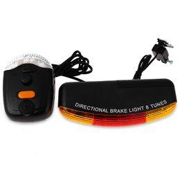 Wholesale Led Bicycle Tail Light - XC - 408 7 Bicycle Light LED Bicycle Bike Accessories Cycling Light Turn Night Brake Light 8 Tunes Horn Turning Break Night Lamp +B