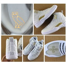 Wholesale Hot For Summer - Hot sell OVO Retro XII 12 basketball shoes for men athletic trainer sports 12s whtie black sneaker shoes size us 8-13