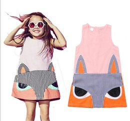 Wholesale Sales Tutu Skirts - Bala_bala Children Girl Sleeveless Cartoon Dress Skirt Kids Girl's Clothing Splicing Cotton Dresses Hot Sale Fashion Dress 4 Pcs Lot B