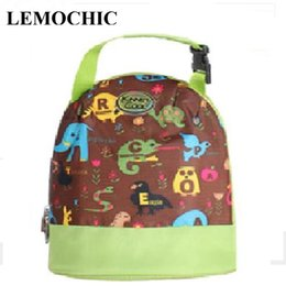 Wholesale Pattern Lunch Box - Wholesale- LEMOCHIC New outdoor Variety Pattern Lunch Bag Women Waterproof camping hiking Lunch box High quality For Kids Adult Picnic Bag