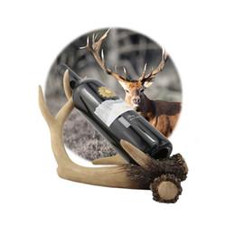 Decorazione dell'entrata online-Deer Antlers Cremagliera del vino rosso Cremagliera del vino creativo Home Artigianato Decor Living Room Entrance Cabinet Decorazione del partito S2017348