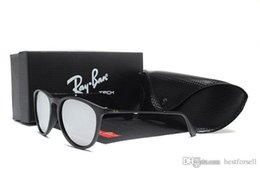 Wholesale Glass Ray - New Classic Sunglasses Ray Men Women Erika Round Band Chris b5s Glass UV protection Ben Lenses BANS Sun Glasses 4171 with cases