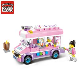 Wholesale Enlighten City - Enlighten City Series Mobile Ice Cream Truck Building Blocks set 213PCS Bricks Toys For Children Gift 1112 Christmas Gifts