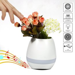 Wholesale Bluetooth Speake - TOKQI Bluetooth Smart Music Flower-ports intelligent real plant touch play flowerpot colorful light long time play bass speake Novelty Lamp