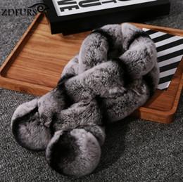 Wholesale Rabbit Fur Ball Scarfs - Wholesale- South Korea's new female winter fur thicker models Rex fur fur collar warm rabbit double ball scarf special