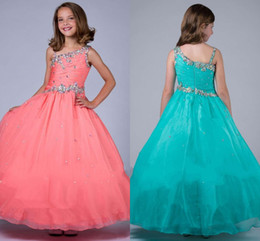 Wholesale Discounted Girls Ball Gown - Pink Flower Girl Dresses Discount Cupcake Yellow Girls Pageant Dresses Girl Dresses for Ritzee Girls Pageant Gowns 2016 New Arrival HY1155