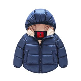 Wholesale Duck Down Jackets For Boys - 2016 New kids Winter Warm Coat Baby Boys Girls Outerwear & Coats Fashion White Duck Down children Jacket Coat for Boys clothing
