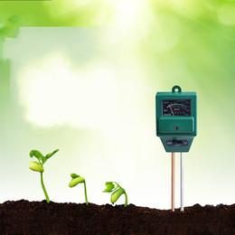 Wholesale Green Garden Tools - Soil Detector Portable Garden Plants Flowers Moist Tester Instrument Tool 3 In 1 Soil Moisture Meter Green 16yg C R