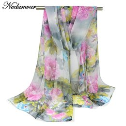 Wholesale Red Muffler - Wholesale- 2016 scarf thin chiffon silk scarf Feminino accessories women's summer sunscreen cape Muffler Foulard Sjaal Cachecol