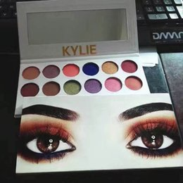 Wholesale Peach Eyeshadow - 2PCS Kylie eyeshadow palette makeup Holiday Edition Cosmetics The Royal Peach Kyshadow Palette Preorder 12 colors eyeshadow make up