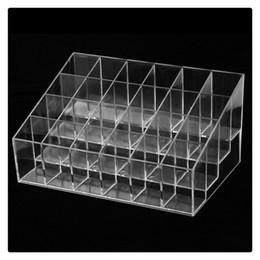 2019 rose rosse di plastica 2017 nuovo organizzatore cosmetico di trucco di alta qualità 24 basamento di plastica trasparente dell'organizzatore di trucco di trapezio di plastica trasparente DHL libero
