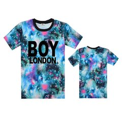 Wholesale White Leather Shirts - Q3676P 2017 New Style BOY T-shirt Fashion Rock Men's Tees Tops Colorful Short Leather Sleeve hot selling