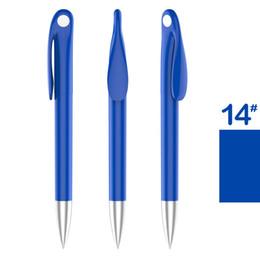 Wholesale Touch Ballpen - 10 Pcs Creative Plastic Pen Ballpoint Pens Stationery Ballpen Stylus Pen Touch Pen 20 Colors Oily Black Refill 0.5 mm Freeshipping