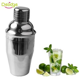 2019 agitatori di bevande di metallo 10 pezzi 250 ml 350 ml Cocktail Shaker Stainless Steel Bar Cocktail Mixer Drink Bartender Wine Shaker Martini Mixer Drink Shaker