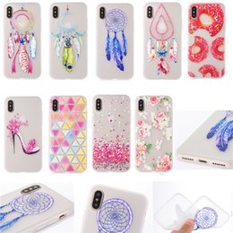Wholesale Animal Phone Cases - Clear Patterned Casese For iPhone X iX Slim TPU Protective Soft Silicone Printed Animal Flower Cartoon Floral Phone Covers
