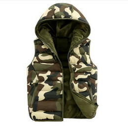 Wholesale Camouflage Waistcoat - Mens & women spring autumn clothing fashion casual vest men camouflage vests men down sleeveless jacket waistcoat