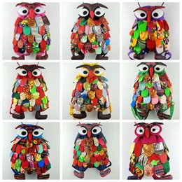 Wholesale Kids Tablet Wholesale - 2017 hot Colorful Ethnic Style Owl Children bag Kid Girls Fashion backpacks school bags Chinese Characteristics New JJA31