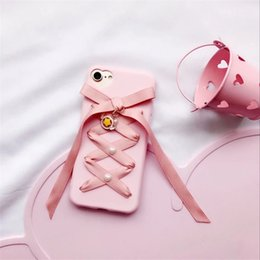 """Wholesale Iphone Anime Casing - For Iphone 7 6 6s plus cover Japanese Anime Cute kawaii Lolita bow Silk ribbon soft silicon phone case 4.7"""" 5.5''"""