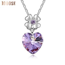 Wholesale Swarovski Elements Crystal Heart Pendant - 2017 new A genuine using SWAROVSKI Elements Crystal Necklace - dancing heart high-end jewelry wholesalesale