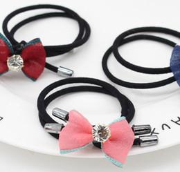 Wholesale Cartoon Hair Ties - 2017 girls Children Cute cloth cartoon Hair bands bowknot hair tie Christmas gift hair accessories for girls 9