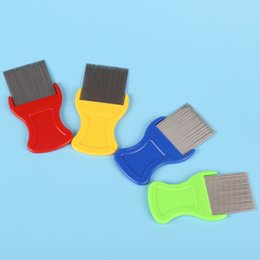 Wholesale Fine Toothed Comb - Cat Dog Puppy Grooming Steel Small Fine Toothed Pet Flea Comb wholesale