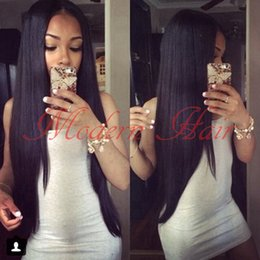 Wholesale Synthetic Swiss Lace Wig - Cheap 14-26 Inch Long Silky Straight Synthetic Lace Front Wig  Full Lace Wig Heat Resistant Swiss Lace With Baby Hair For Black Women