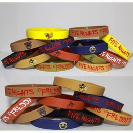 Wholesale Duck Big - 7pcs lot five nights at freddy's FNAF silicone bracelet fashion wristband of five nights at freddy`s toy