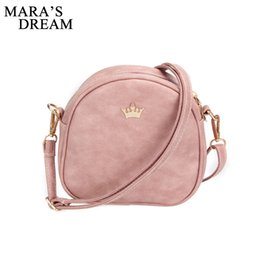 Wholesale Shell Barrel - Wholesale- Mara's Dream 2017 Handbag Phone Purse Women Small Bag Imperial Crown PU Leather Women Shoulder Bag Small Shell Crossbody Bag