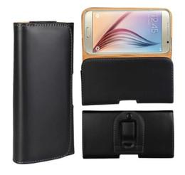 Wholesale Iphone Belt Clip Wallet Flip - Holster Belt Clip Universal Case Wallet Leather Pouch Flip Cover for iphone8 8plus 7 6s plus Samsung s6 edge s7edge