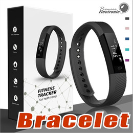 Wholesale Band Steps - ID115 Smart Band Bracelet Fitness Tracker watch Wireless Touch Screen Sleep Monitor Activity Step Distance Calorie Counter for Android  iOS