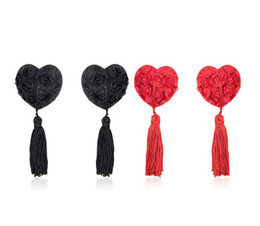 Wholesale Tassels Nipples - romantic roses with tassels design reusable Safety environmental protection sexy nipple stickers covers T- Tit sticker adult sex toys