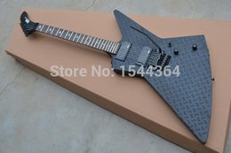 Wholesale Maple Finish - New! E&P - Wholesale and Retail Explorer electric guitar Artistic beautyblack with satin black black ardware finished!