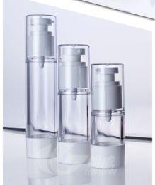 Wholesale Lotion Pump Bottles Wholesale - 15ml 30ml 50ml Cream Airless Bottle Clear AS Plastic Lotion Sub-bottling With Vacuum Pump Serum Bottle Sample Divide Bottle