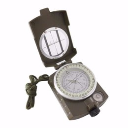 Wholesale Marching Military Compass - 3 in 1 Multifunctional Military Marching Outdoor 360 Lensatic Lens Camping Compass