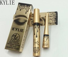 Wholesale Eyelash Extension Eyeliner - Kylie Jenner Cosmetics Makeup 3D Fiber EyeLashes Extension Mascara + Gel Eyeliner 2 in 1 Sets Waterproof Mascara Eyeliner 50pcs DHL