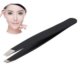 Wholesale Makeup Beauty Tips - Wholesale-Hot Sale 2016 NEW Fashion Lady Eyebrow Tweezers Hair Removal Stainless Steel Beauty Makeup Tool Slant Tip